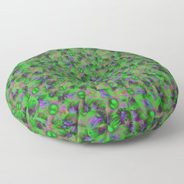 Abstract sewn flowers Floor Pillow