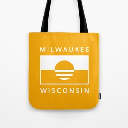 Milwaukee Wisconsin - Gold - People's Flag of Milwaukee Tote Bag