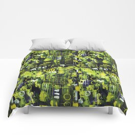 Northern Lights Abstract Painting Comforters