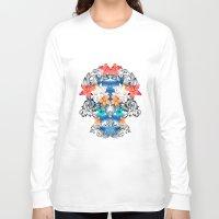 hawaiian Long Sleeve T-shirts featuring Hawaiian Skull by Anis