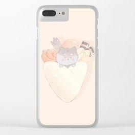 Kawaii Crepe Dog Clear iPhone Case