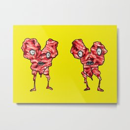 FACEY MEAT HEARTS II Metal Print