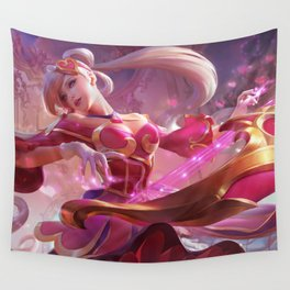 Sweetheart Sona Splash Art Wallpaper Background Official Art Artwork League of Legends lol Wall Tapestry
