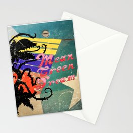 Mean Green Dreams  (Steel Look) Stationery Cards
