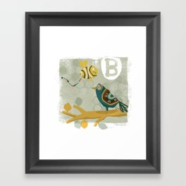"""B"" Framed Art Print"