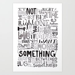 Something About Us Art Print