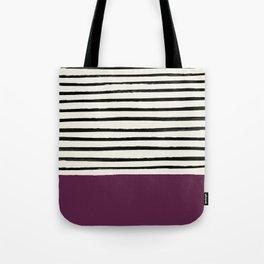 Plum x Stripes Tote Bag