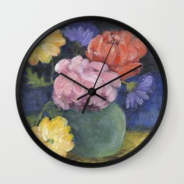 Garden Trimmings Wall Clock