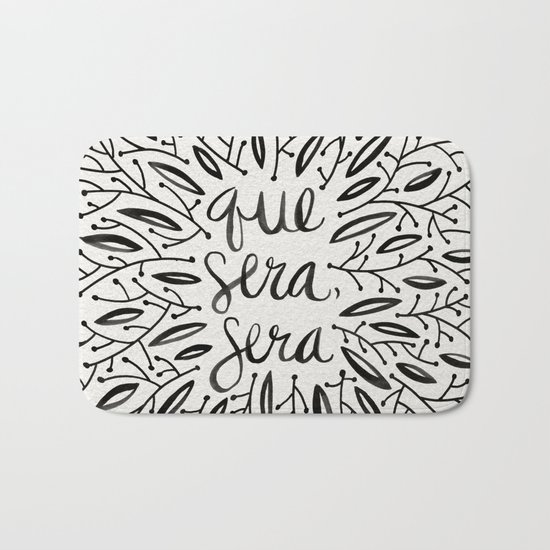 Whatever Will Be, Will Be – Black Ink Bath Mat