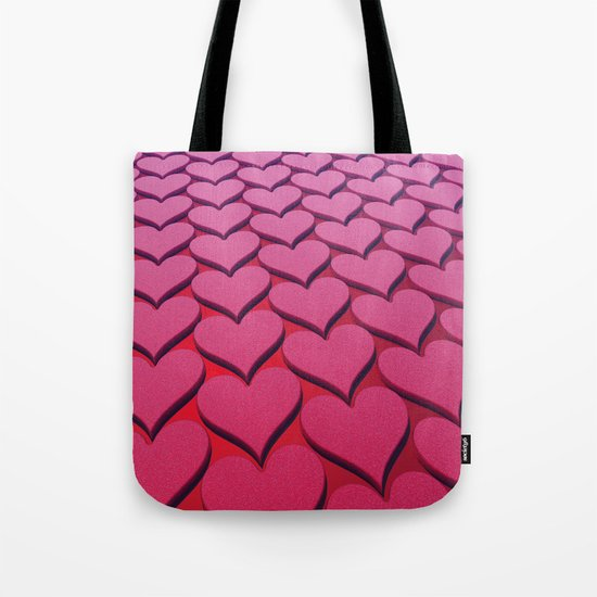 Textured 3D Heart Pattern Tote Bag