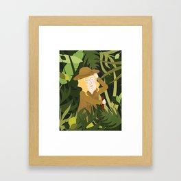 Lady Explorer Framed Art Print