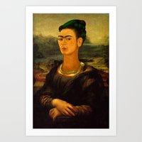 Frida Kahlo's Mona Lisa Art Print