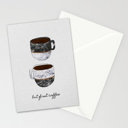 But First Coffee, Coffee Quote Stationery Cards