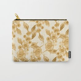 Gritty Vintage Rose Pattern II Carry-All Pouch