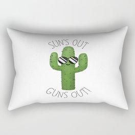 Sun's Out Guns Out! Rectangular Pillow