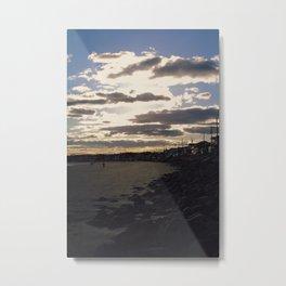 Cloud Glow Metal Print