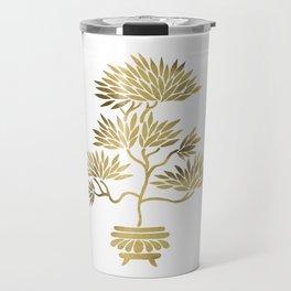 Bonsai Tree – Gold Palette Travel Mug