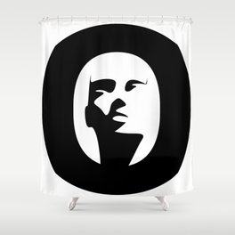 Woman - inside the O Shower Curtain