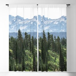 Mount Rainier Adventure - Pacific Northwest Mountain Forest Wanderlust Blackout Curtain
