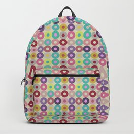 Circle grid pastel pattern home decor pop art Backpack