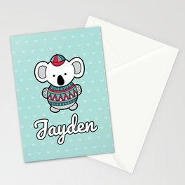 Custom Koala Jayden Stationery Cards
