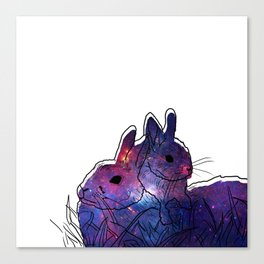 Bunny Mother And Baby Canvas Print