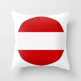 flag of austria Throw Pillow