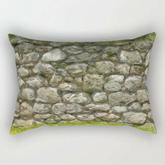 stone-wall Rectangular Pillow