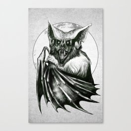 Bloodlust - Black and white Canvas Print