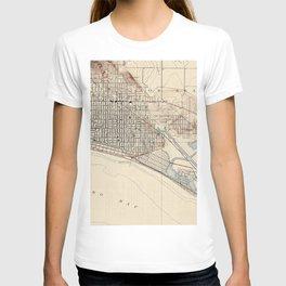 Vintage Map of Long Beach California (1923) T-shirt