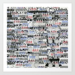 Stealing Actualized Icons (P/D3 Glitch Collage Studies) Art Print