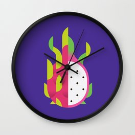 Fruit: Dragon Fruit Wall Clock