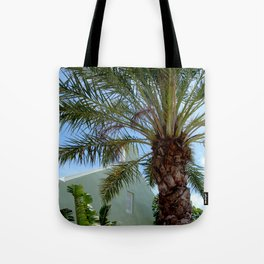 Grand Turk Palm and Building Tote Bag