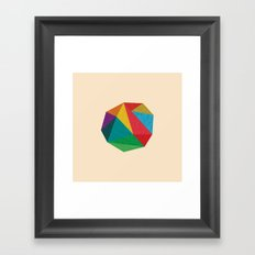 Poly Circle Framed Art Print