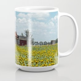 House in the middle of the sunflowers Coffee Mug