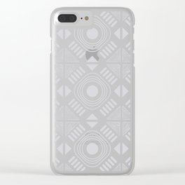 Ria Grey Clear iPhone Case