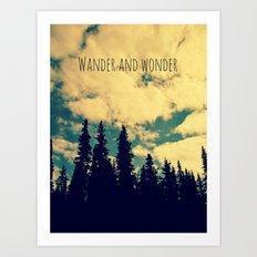 Wander and Wonder Art Print