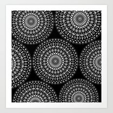 Geometries in white. Art Print
