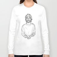 louis tomlinson Long Sleeve T-shirts featuring Louis Tomlinson  by Cécile Pellerin