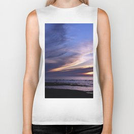 Feathered Clouds at Sunset Biker Tank