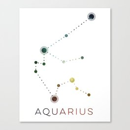 AQUARIUS STAR CONSTELLATION ZODIAC SIGN Canvas Print