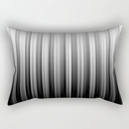 Black And White Soft Blurred Vertical Lines - Ombre Abstract Blurred Design Rectangular Pillow