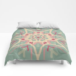 Mandala Faded Watermelon Comforters