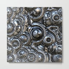 3D Reflections Metal Print