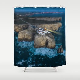 Portugal Coastline Shower Curtain