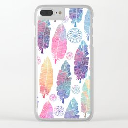 Watercolor feathers Clear iPhone Case