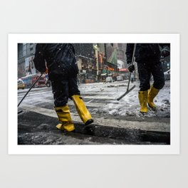 NYC Blizzard of 2015 Art Print