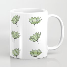 Flowers with stripes - abstract Coffee Mug
