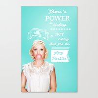 amy poehler Canvas Prints featuring Word of Amy Wisdom by abbygoaway
