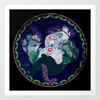 ursula Art Prints featuring Ursula by Mazuki Arts